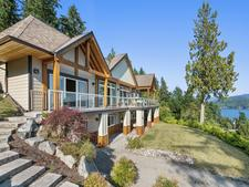Concrete Home with Suite & Ocean Views in Gibsons For Sale