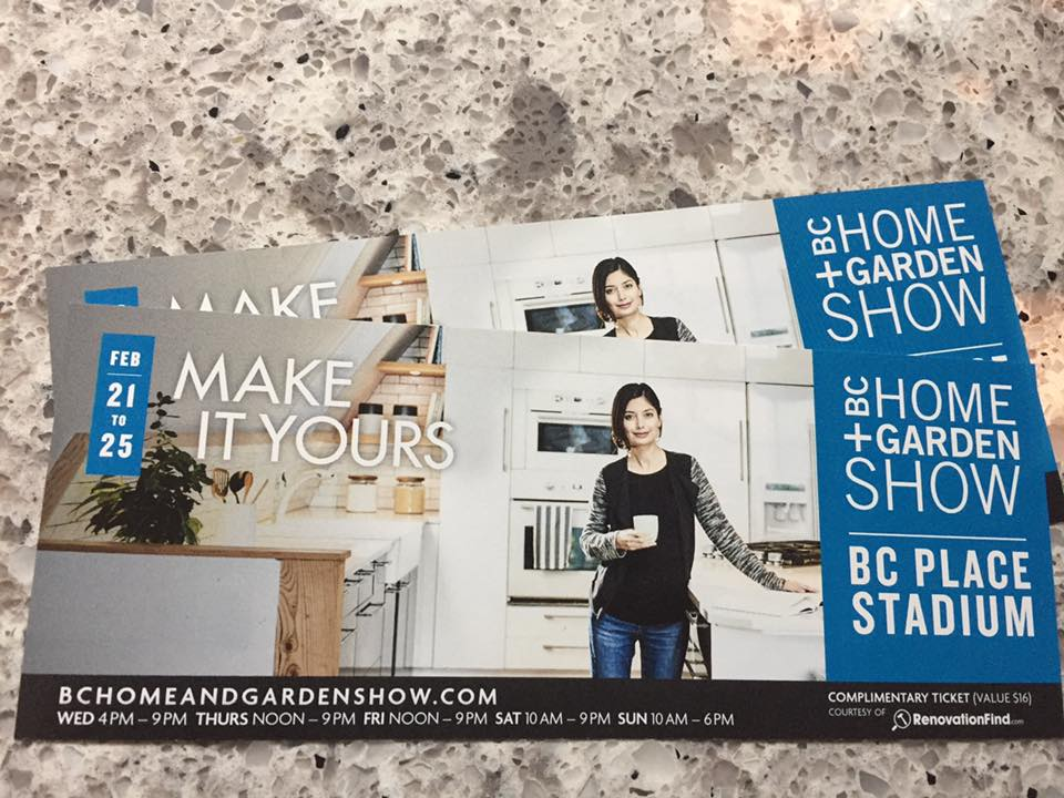 Blog: BC Home Show Ticket Giveaway!