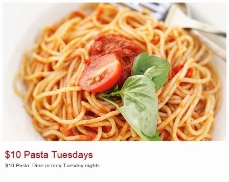 Pastameli 10 Dollar Pasta Tuesday