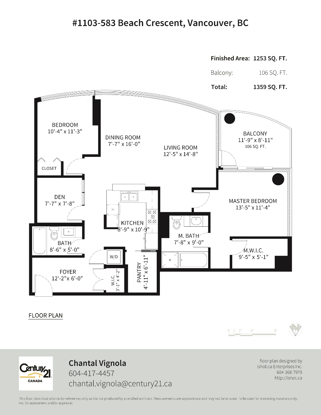 1103 583 Beach Avenue Floor Plan