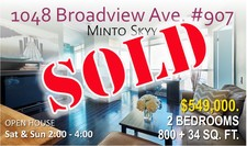 East York CONDO apartment for sale: Minto SKYY 2 bedroom 800 sq.ft. (Listed 2018-02-28)