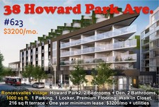 Roncesvalles Villge CONDO apartment for sale: Howrd Park2 2+1 1,000 sq.ft. (Listed 2018-06-24)