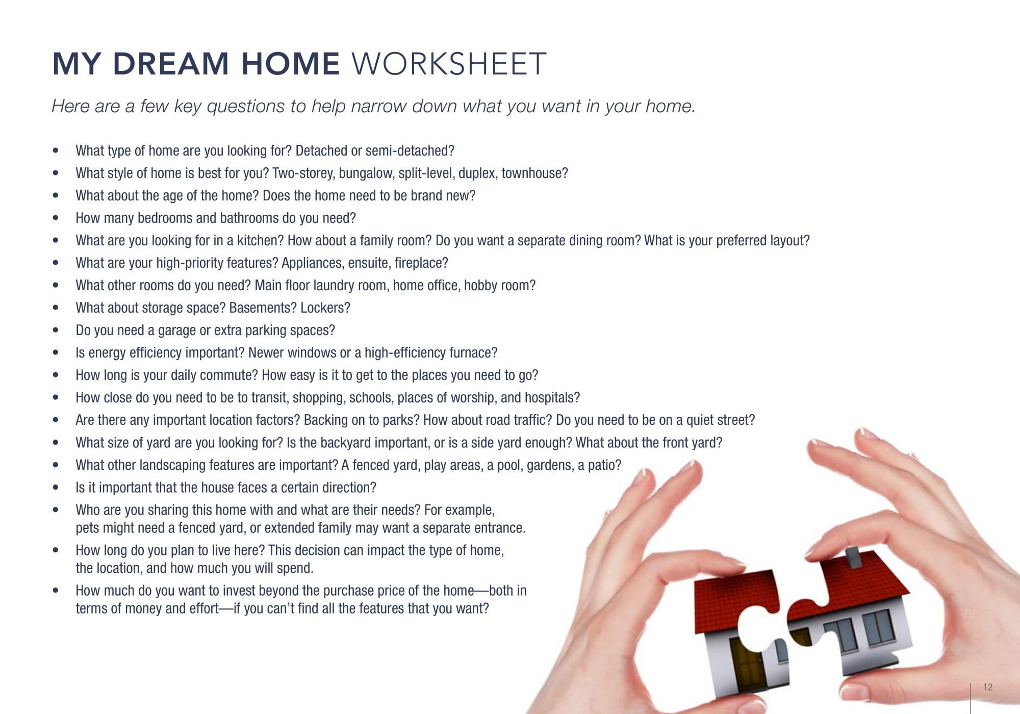 Christ Tarves Dream Home Worksheet