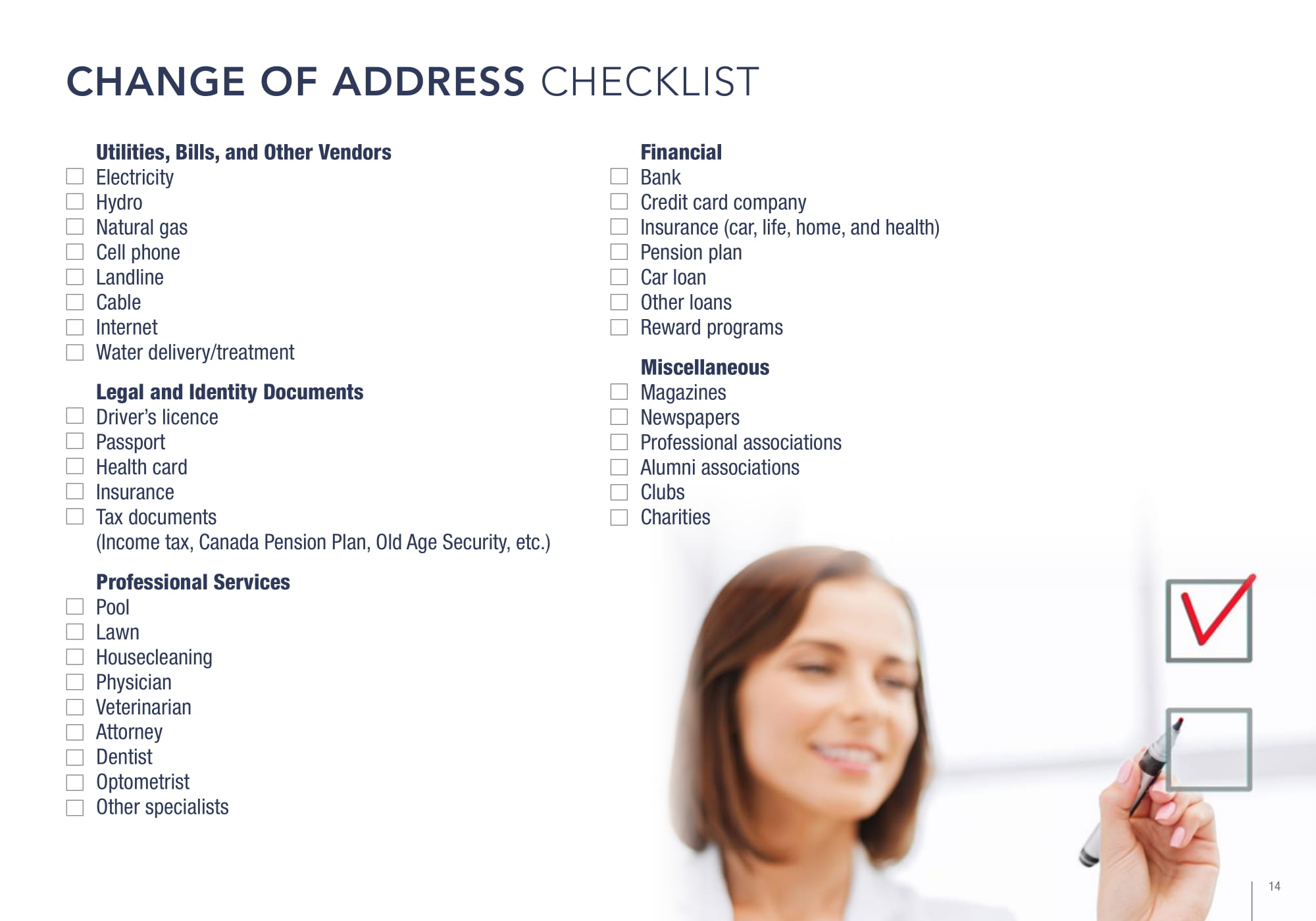 Christ Tarves Change Address Checklist