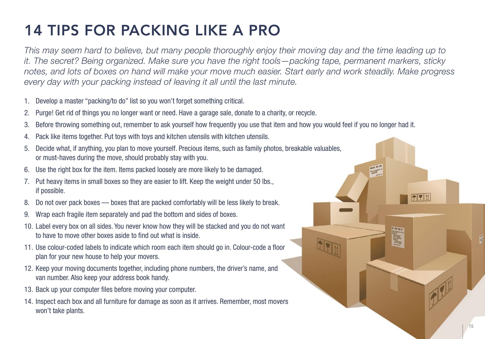 Christ Tarves Packing Tips
