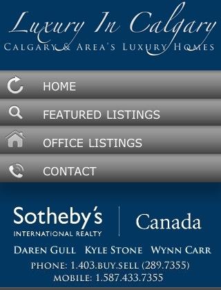 Luxury in Calgary Mobile Website