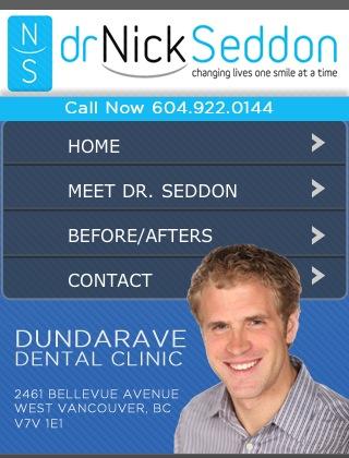 Ubertor Mobile Website - Dr Nick Seddon Dundarave Dental