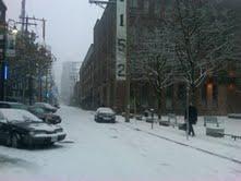Yaletown as a winter wonderland...so pretty!!