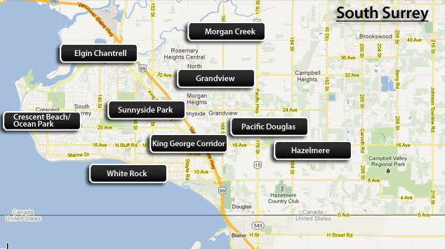 south surrey map