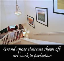 townhome stairway staged
