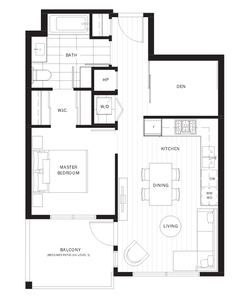 West Cambie Condo for sale:  1 bedroom 602 sq.ft. (Listed 2019-08-08)