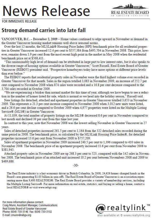 2009-11-REBGV Stats Package