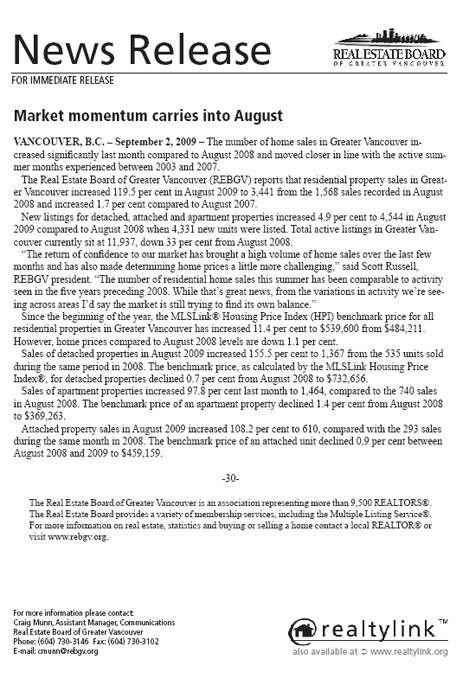 2009-08-REBGV Stats Package