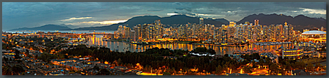 Panoramic photo of Vancouver - David Malkin's website home page