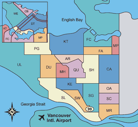 Vancouver Westside MLS area map