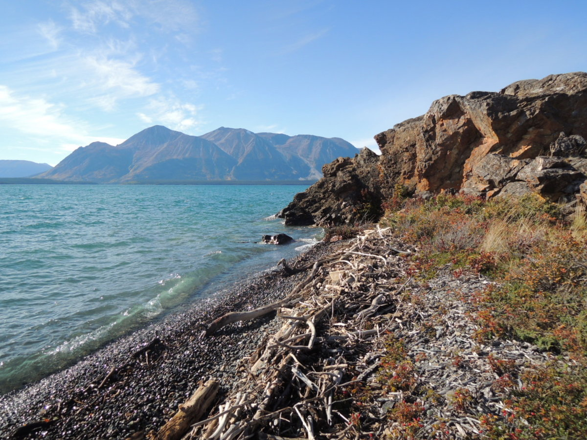 Autumn Atlin Mtn from Crystal Beach