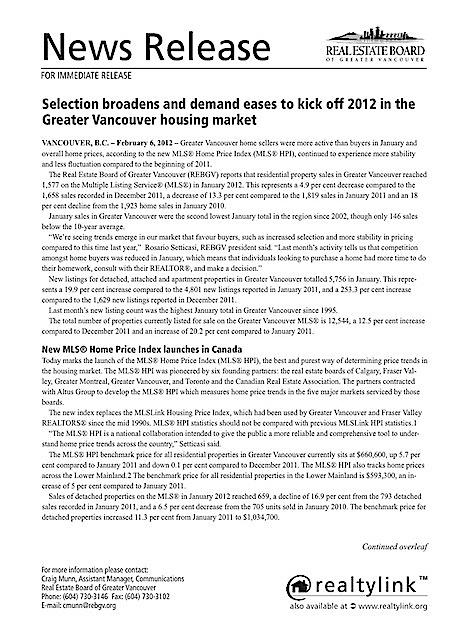 Market Update Feb 2012