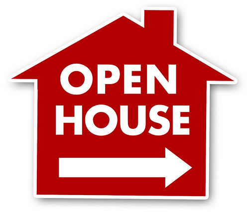 Open House Sign for blog