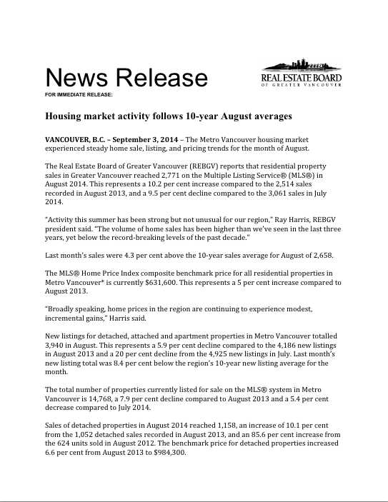 2014-08 REBGV Stats