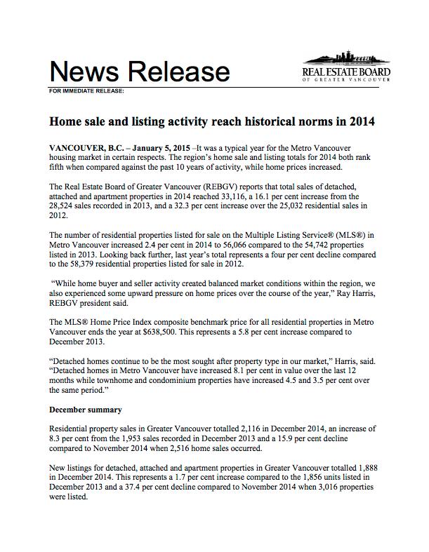 2014-12 REBGV Stats
