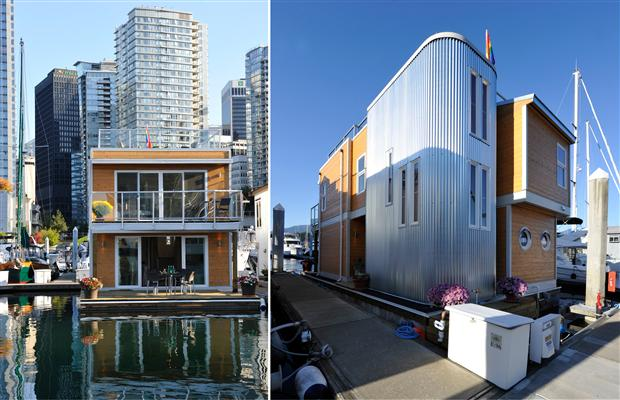 New floating house exterior