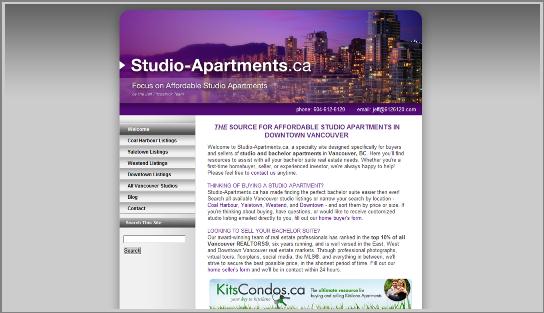 Studio Apartment Website