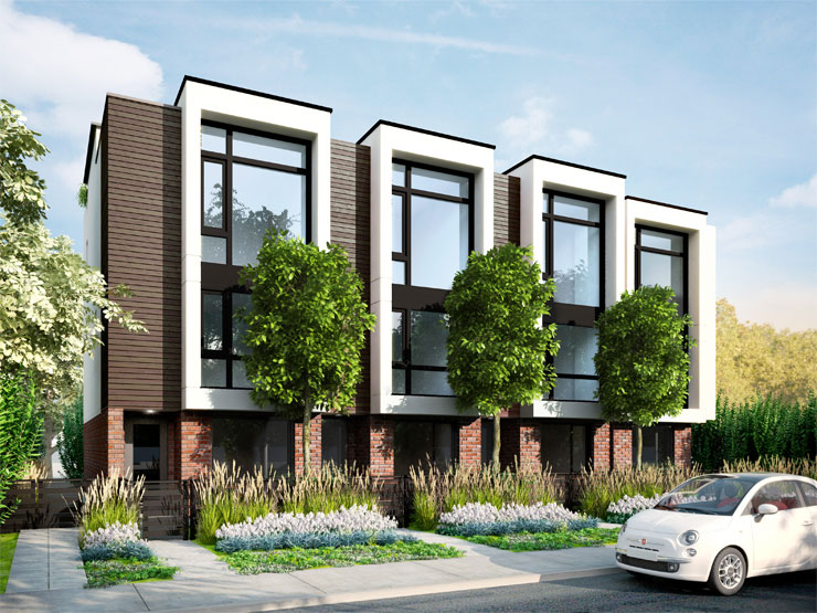 Blanc Modern Townhome Exterior