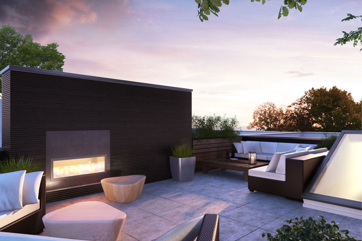 Blanc Modern Townhome Rooftop Patio
