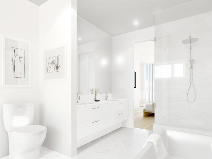 Blanc Modern Townhome Bathroom
