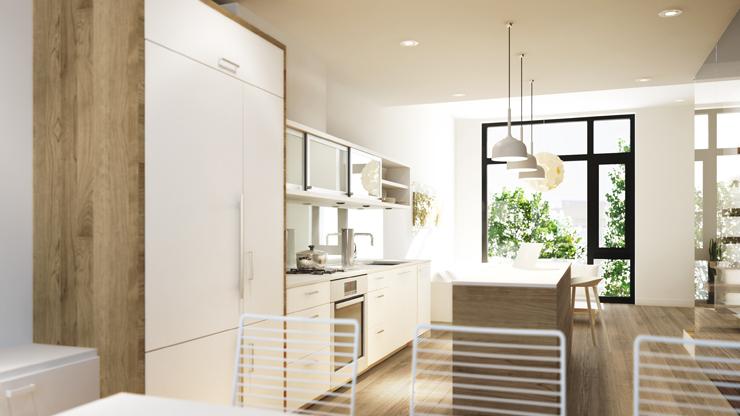 Blanc Modern Townhome Kitchen