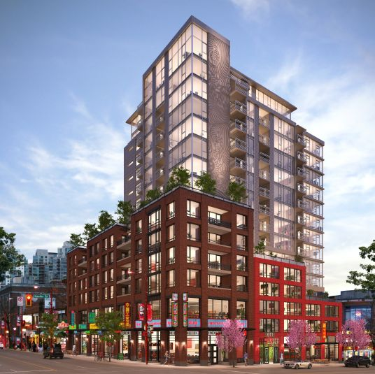 601 Main and Keefer Condo Rendering
