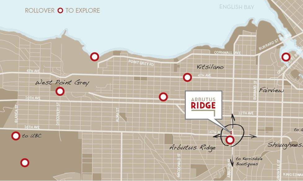 Arbutus Ridge Neighbourhood Map
