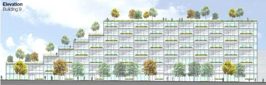 Oakridge Terracing Streetwall Building