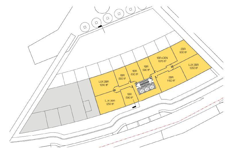Oakridge Terracing Streetwall Floorplan