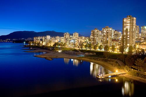 Vancouver Skyline Dusk