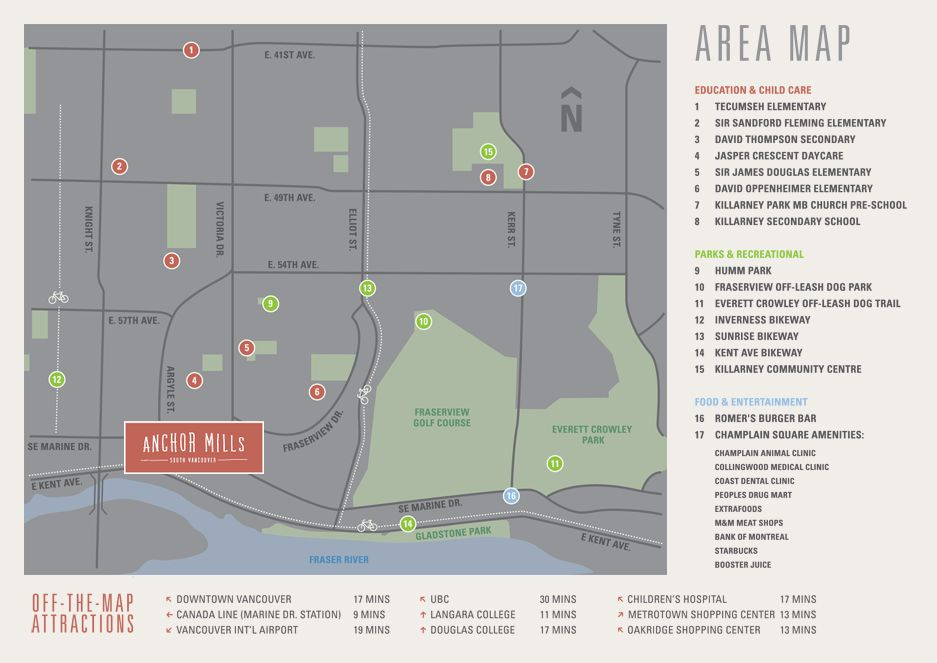 Anchor Mills Townhomes Location Map