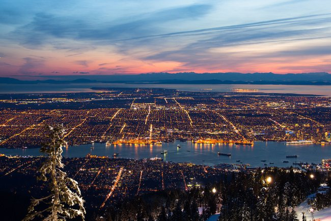 Vancouver From the Mountains