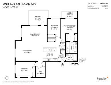 Coquitlam West CONDO for sale: SIMON II 3 bedroom 1,453 sq.ft. (Listed 2020-02-19)