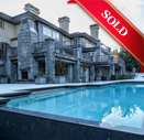 sold house exterior with pool