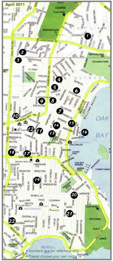 Oak Bay Artists Studio Map 04-11