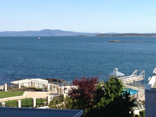 Views Towards Oak Bay Beach Hotel Grounds