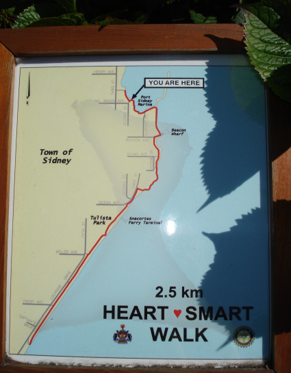 Town Of Sidney BC - Heart Smart Walk Map