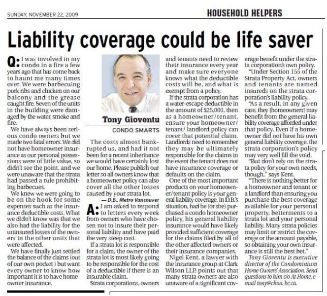 liability coverage could be life saver
