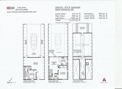 Lower Lonsdale Float Home for sale: Mosquito Creek Marina 1 bed and loft 1,114 sq.ft. (Listed 2021-07-25)
