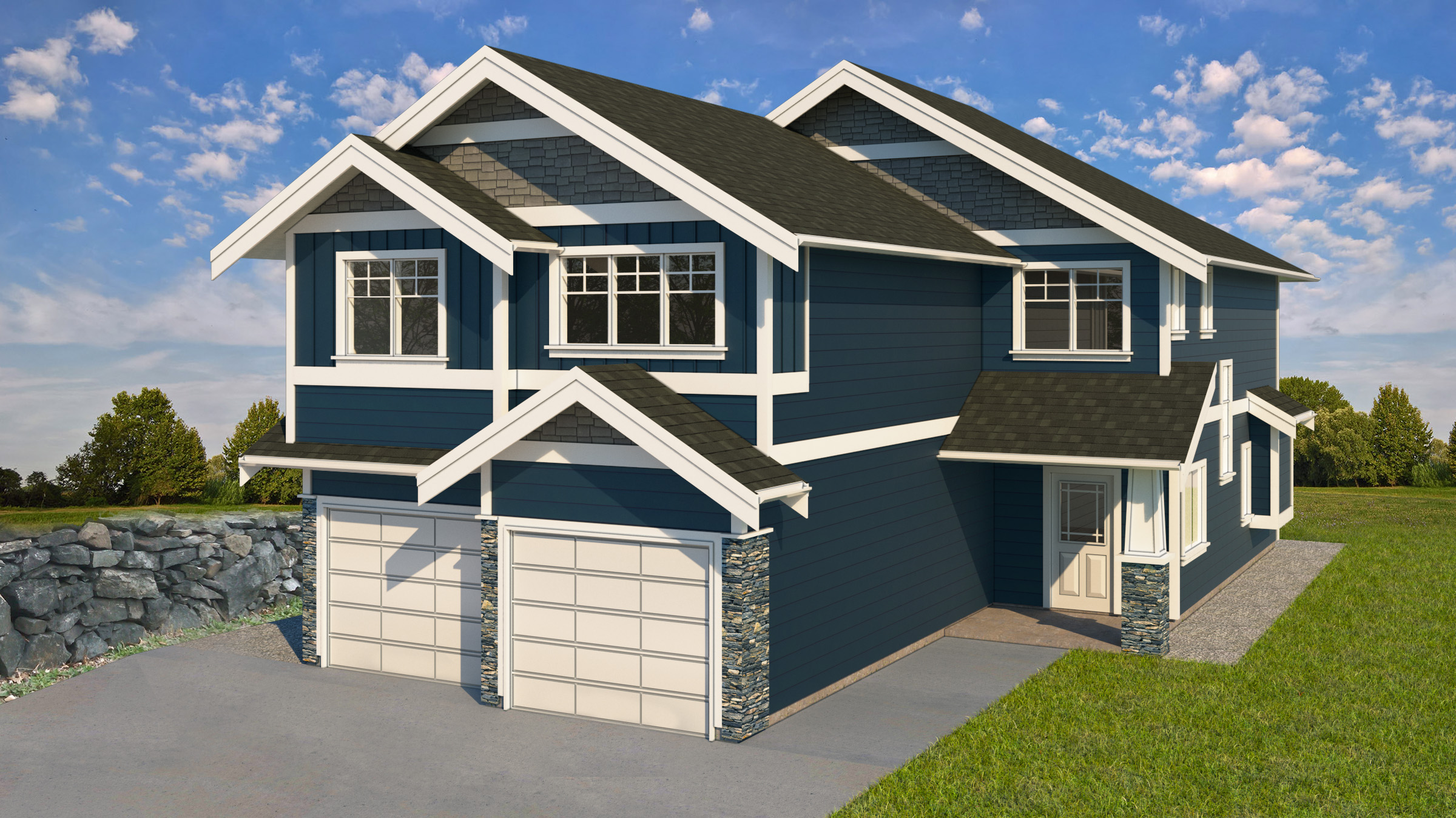 West Ridge Trails New Home For Sale - 4 bedrooms 3 bathrooms 2400 sqft - Carriage House Suite Above Garage