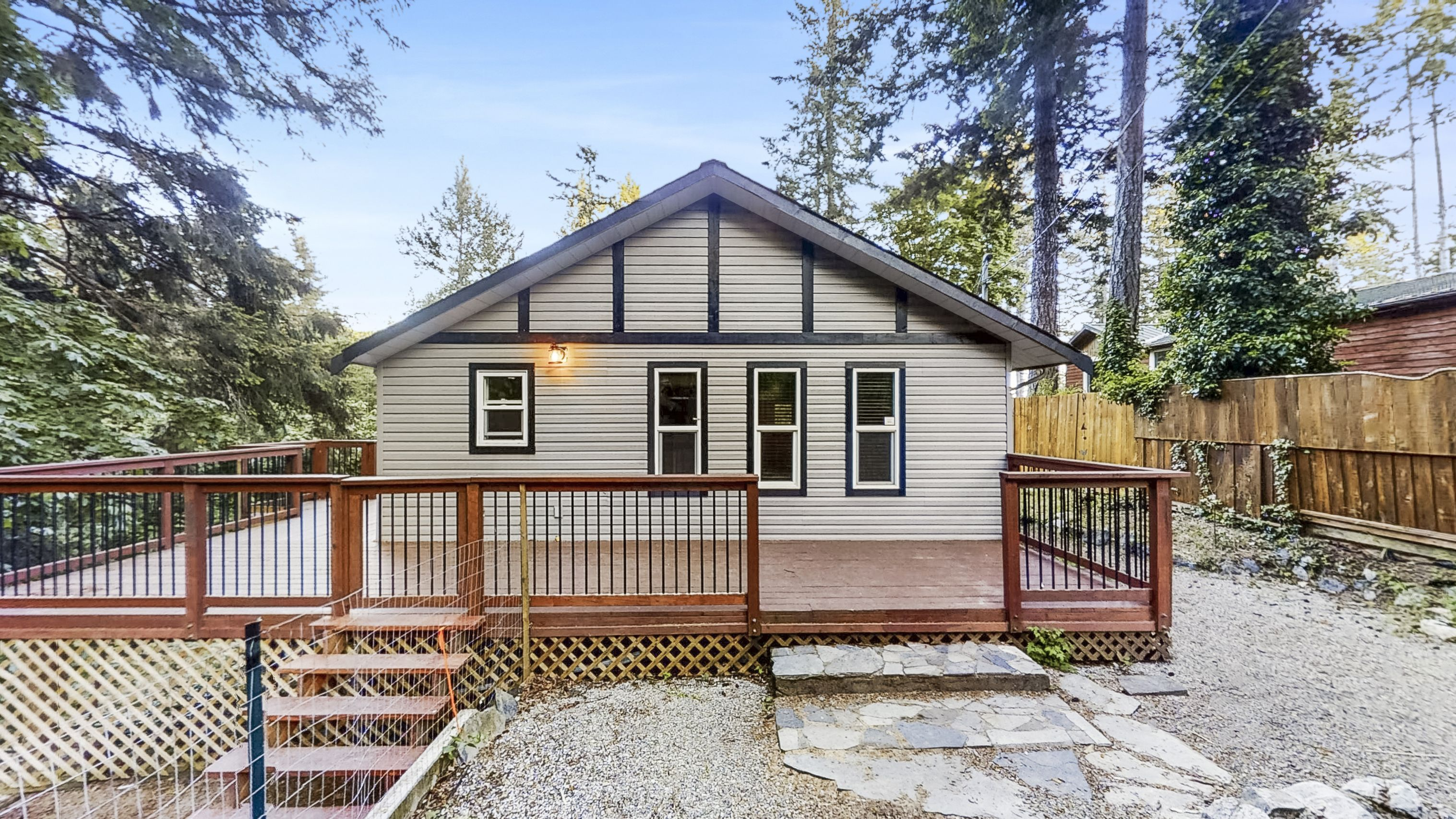 Cozy 2-bedroom home on sunny acreage in Sooke - 2.8 acres, your own creek, trees and privacy galore!