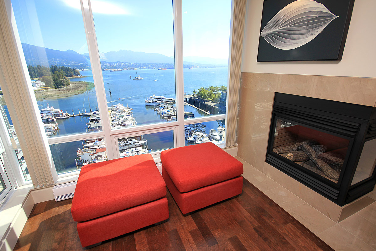 Kimmins Real Estate: 1401 - 499 Broughton Street, Vancouver - Coal Harbour Luxury Condo for sale: Denia - 2 bedroom, 1,735 sq.ft.