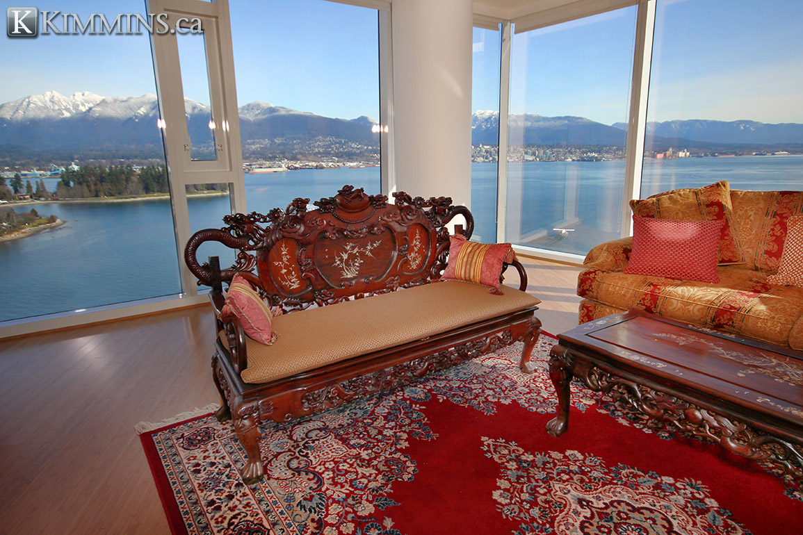 Vancouver Luxury Real Estate - Kimmins and Associates : Coal Harbour Condo for sale at Carina:  2 bedroom 1,845 sq.ft.