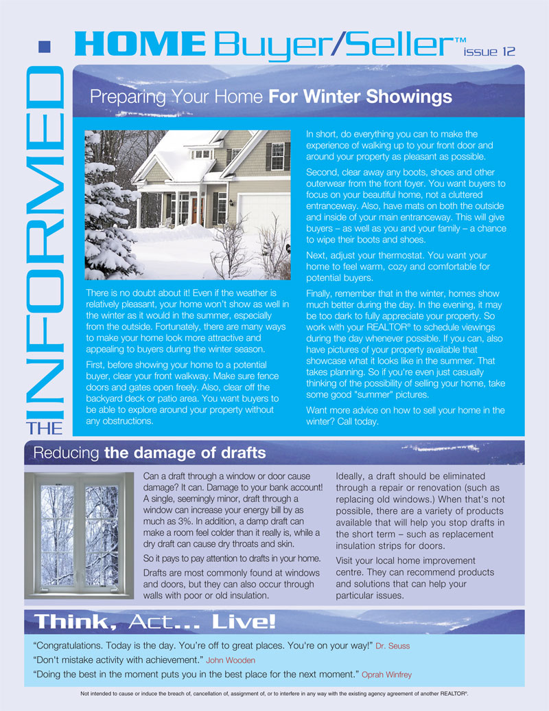 Informed Home Buyer December 12 - Preparing your Home for Winter Showings.jpg