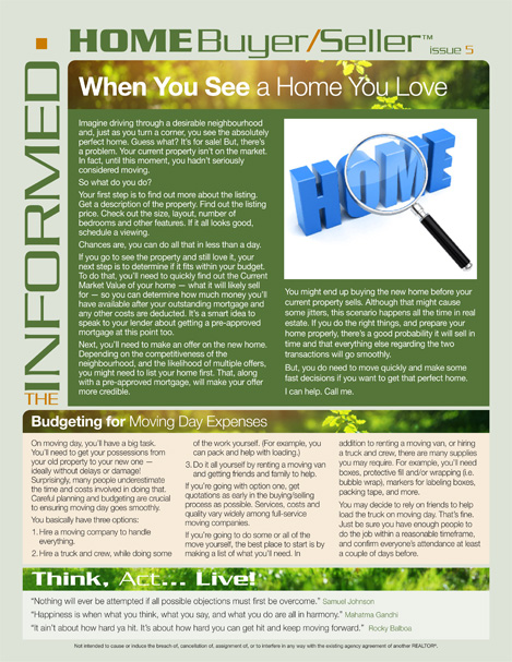 Informed Home Buyer May 2019